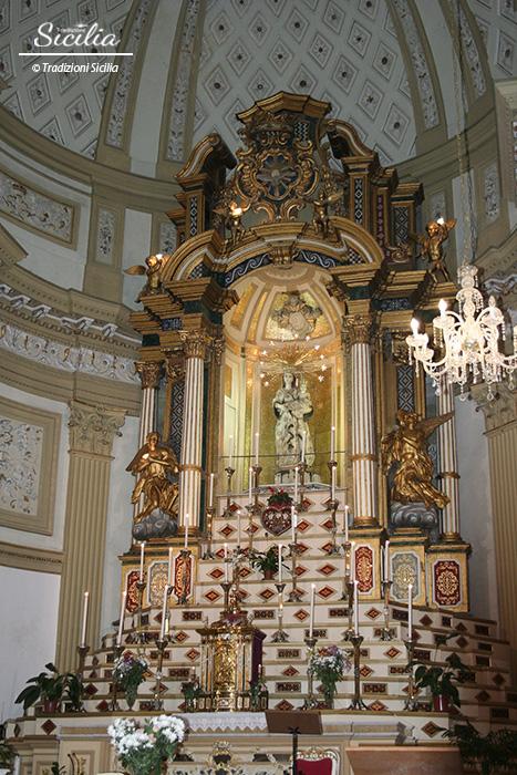 Racalmuto_particolare altare Santuario_Maria del Monte